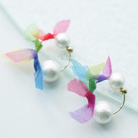 rainbowflower earring