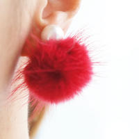 minkfurball earring red
