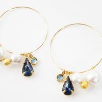 ヴィンテージガラス pierced earrings 02