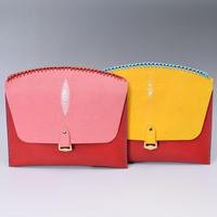 手縫製最高級エイ革 クラッチバッグ