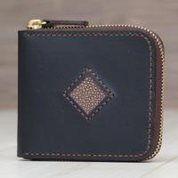 ブラウン《ファスナー折財布:ロードストン》