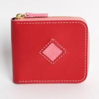 レッド・ピンク《ファスナー折財布:ロードストン》