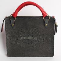 手縫製最高級エイ革 ハンドバッグ