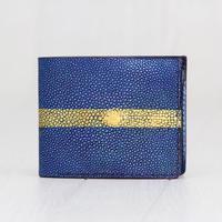 ブルーゴールドライン《折財布:シルクロード》※一点物