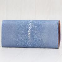 ブルー・キャメルレッドライン《長財布:アウロラ》