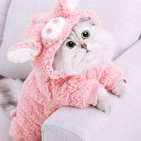 ペットの猫の服 ブタちゃんデザイン 猫 暖かいパーカー トレーナー コート 子猫の猫