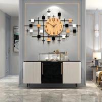 木製の壁時計モダンなデザインの壁時計 北欧ヴィンテージビッグリビングルームの壁時計