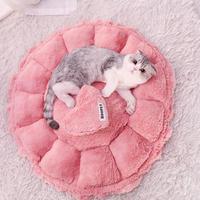 2WAYでかわいい♪ピンクの猫のベッド 猫ハウスペット 猫ちゃん、ワンちゃんの冬用のお家_Sサイズ
