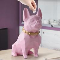かわいいコイン銀行ボックス 樹脂 犬の置物 ホームデコレーション コイン収納ボックス ホルダー 子供のギフト 貯金箱