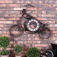 アメリカンカントリーなオートバイ 壁掛け時計 インテリアにもなるおしゃれな壁時計