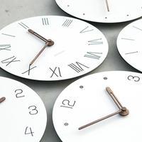 白い壁時計 モダンなデザイン クリエイティブ サイレント 寝室の壁時計_17.5cm