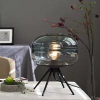三脚付き デザインガラステーブルランプ 寝室やレストラン、リビングルームの装飾 ラウンドデスクランプ
