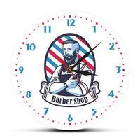 理髪店 ヘアサロン 壁時計 現代的な装飾 掛時計 アクリル クォーツムーブメント時計