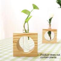 花瓶ガラス プランターテラリウム テーブルデスクトップ フラワーポット_円Type