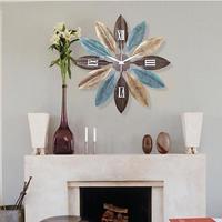 リーフのモチーフがおしゃれな壁掛け時計 ヴィンテージ感満載の柱時計 プレゼントにも最適