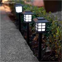 灯ろうみたいなソーラー芝生ランプ 屋外ガーデン ソーラースポットライト ソーラー2ピースセット