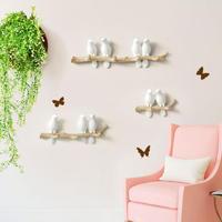 樹脂製 鳥のモチーフがさわやかな壁掛け用フック キー アクセサリー バッグ コートなど掛けられる装飾品_1羽タイプ