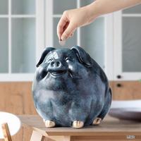 豚の貯金箱 お子さんへのギフトに★ 樹脂 マネーボックス かわいい貯金箱