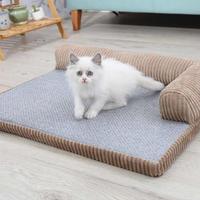 猫のベッド 猫ハウスペット 猫ちゃん、ワンちゃんの枕クッション付きベッド_Mサイズ