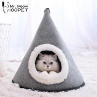 サンタさんの帽子みたいな三角形の猫ちゃんベッド ふかふか ふわふわ 気持ちいい猫ちゃんの家