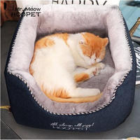 猫のベッド 猫ハウスペット 猫ちゃん、ワンちゃんのふわふわでもふもふ♪快適な冬用のお家_Mサイズ