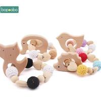 アニマルデザイン 木製おしゃぶり 新生児用おもちゃ ベビーシャワーギフトとしてもおすすめ