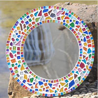 スクエアクリアガラス モザイクタイル Diy 工芸 光を通す透明なガラスタイル_50g