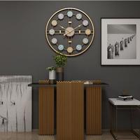 3D 掛時計 50 ㎝ ヨーロッパ・アメリカのファッショナブルなスタイル 鉄 サイレント壁時計 サイレント 寝室のインテリアホーム装飾