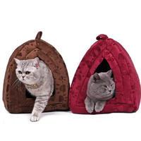 肉球柄 猫のベッド 猫ハウスペット 猫ちゃん、ワンちゃんの冬用のお家