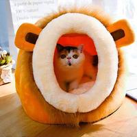 アニマルモチーフがかわいいペットベッド 冬の必需品★猫ちゃんもワンちゃんも大喜びのペット用ベッド_すっぽりSサイズ