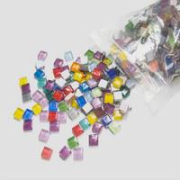選べる10色 高品質ガラスを使用したモザイクタイル DIYに最適な手作り装飾材料_300個セット