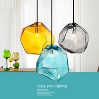 カラフルなガラスペンダントランプ  LED シーリングライト_Mサイズ