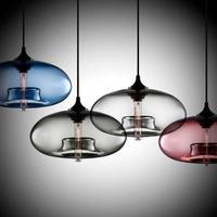 現代北欧アートデコ ハンギングライト colorfulなガラスペンダントランプ E27  Led モダンなダイニングやキッチンに最適