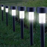 屋外ソーラーライト LED電球 ソーラーガーデンライト 防水ワイヤレス パスヤードランタン_2本セット