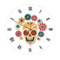シュガースカルの壁掛け時計 お部屋のアクセントやプレゼントにも最適