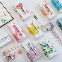 マスキングテープ_5本セット 和紙テープ 日本の四季を感じるスクラップブッキングステッカー