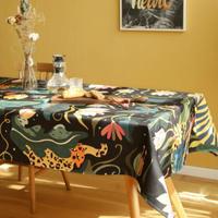 テーブルクロス ホームパーティーテーブルカバー 現代芸術 ジャングル エキゾチックなヒョウ柄 カフェなどにも!_140×200cm