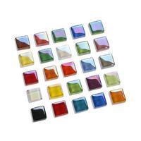 高品質ガラスを使用したモザイクタイル DIYに最適な手作り装飾材料_200個セット