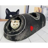 ふわふわフカフカ♪トンネルタイプ ワンちゃん、猫ちゃんのペットベッド