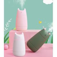猫ちゃんのお耳が光る★USBで充電可能なミニポータブルデュフューザー