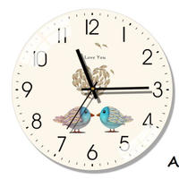 北欧モダン サイレントウォールクロック リビングルーム ベッドルーム サイレント時計_34cmType