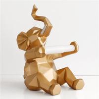 トイレットペーパーホルダー レストラン 簡単イメチェン DIY 象・鹿の置物 家の装飾