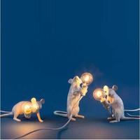 アールデコ調 ホワイトミニマウス テーブルランプ LED E12