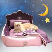 高級なプリンセスベッド 枕 毛布 洗えるペットベッド 猫ベッド マット ソファ 犬ハウス_Mサイズ