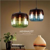 現代北欧アートデコ カラフルなハンギング ガラスペンダントランプ E27 用 Led キッチンやベッドルームにどうぞ