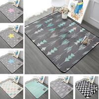 北欧モダン 幾何学模様 リビングルームカーペット 子供部屋 滑り止め付きカーペット