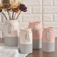 北欧風 シンプルスタイルのセラミック製 花瓶 リビングルームのテーブルの装飾 きれいな装飾の花瓶_Lサイズ