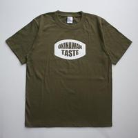 OKINAWAN TASTE ロゴTシャツ(Sitygreen×White)