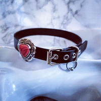 Heart Lether Choker