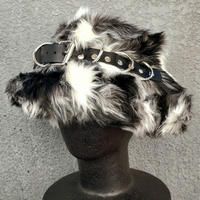 【ARTRICK×ニュリカデリック】Fur D.Belt Hat (blk/wht)